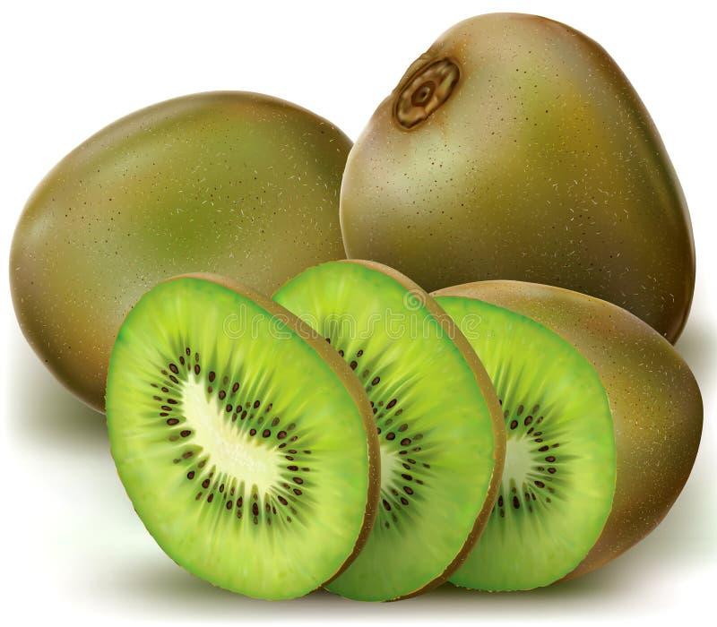 Kiwi ed affettato illustrazione di stock
