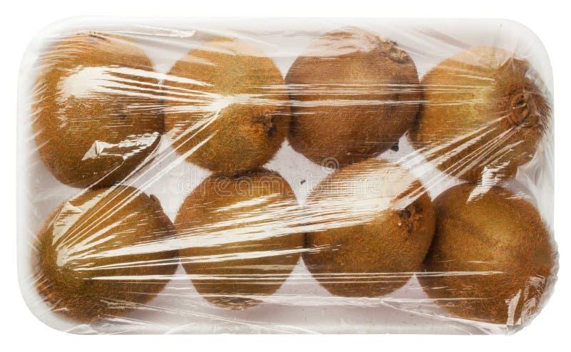 Kiwi en emballage de vide photo stock
