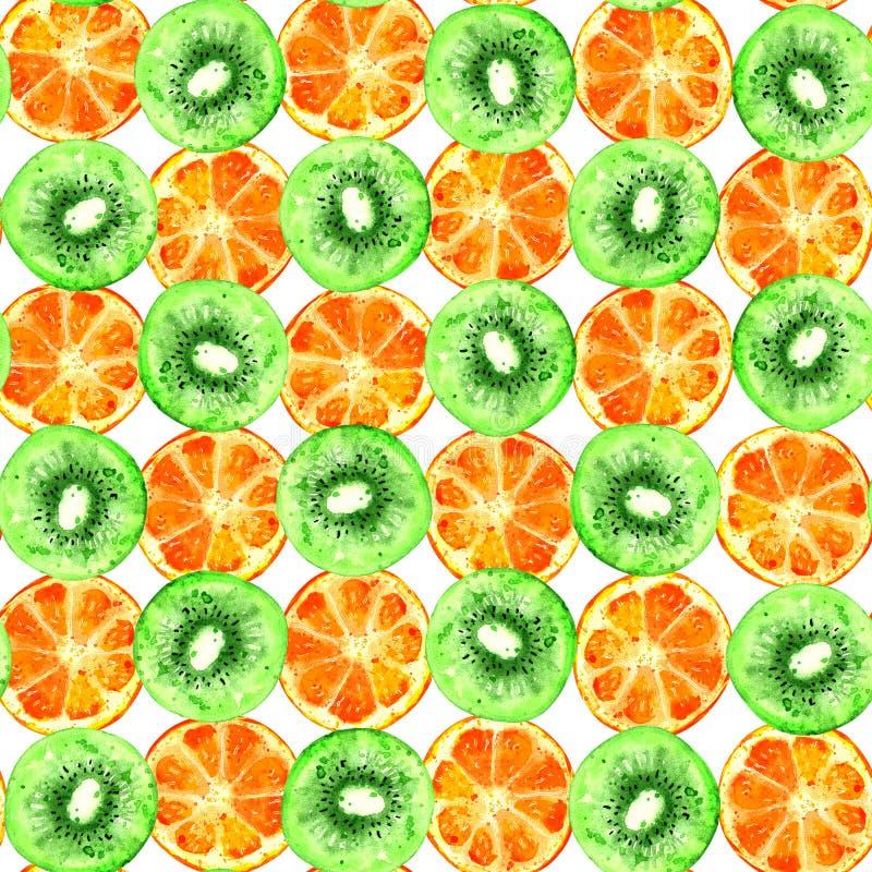 Kiwi et modèle sans couture orange illustration de vecteur