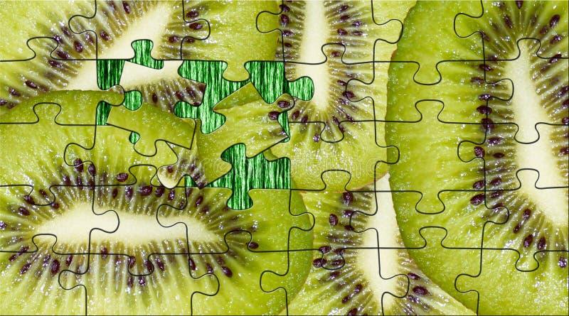 Kiwi från pussel arkivbilder