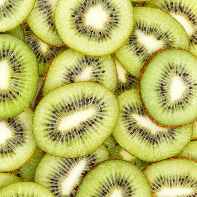 Kiwi-Früchte Sammlung Lebensmittel Hintergrund eckige Scheiben Kiwis frische Früchte lizenzfreies stockbild