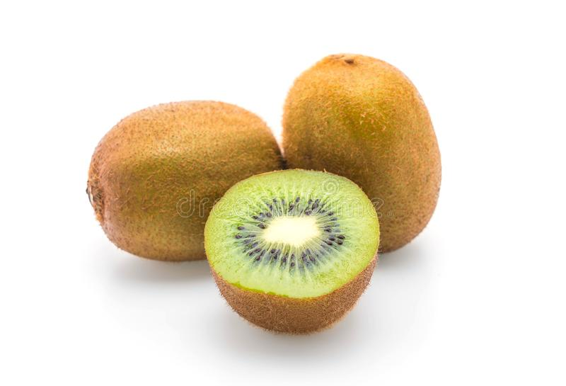 Kiwi fresco su bianco immagine stock libera da diritti