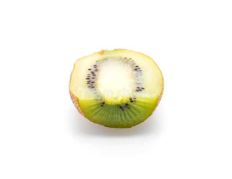 Kiwi fresco su bianco fotografia stock libera da diritti