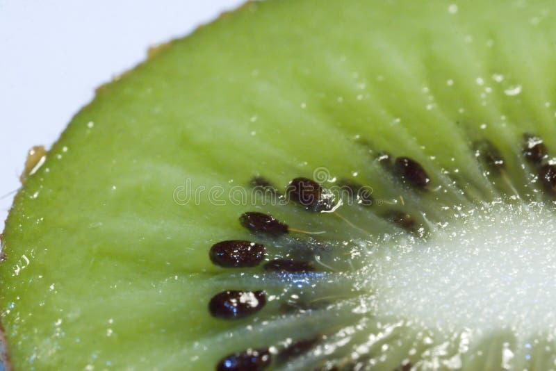Kiwi fruit. Macro of a kiwi fruit stock photo