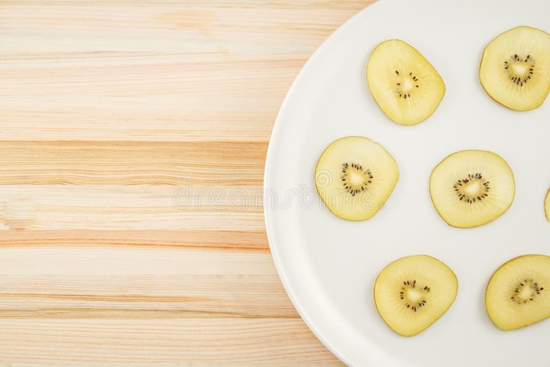 Kiwi fruit arranged in a dish. Shooting location :  Yokohama-city kanagawa prefecture stock image