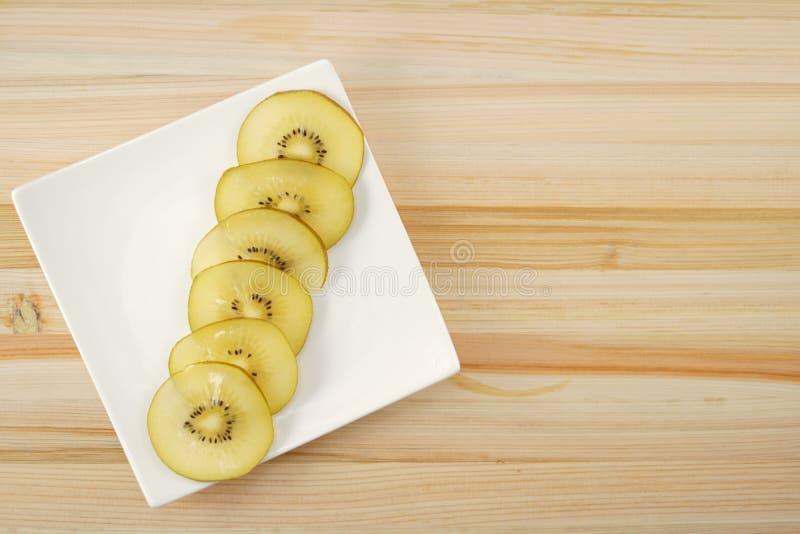 Kiwi fruit arranged in a dish. Shooting location :  Yokohama-city kanagawa prefecture royalty free stock photo