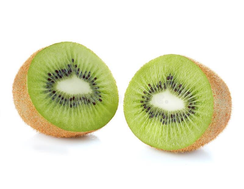 Kiwi fruit close-up isolated on a white background. Kiwi fruit close-up isolated on white background royalty free stock image