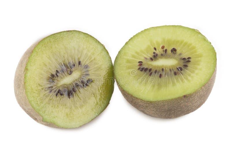 Kiwi fruit cut. White background. Isolated royalty free stock photos