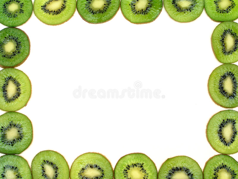 Kiwi Fruit Frame royalty free stock photo