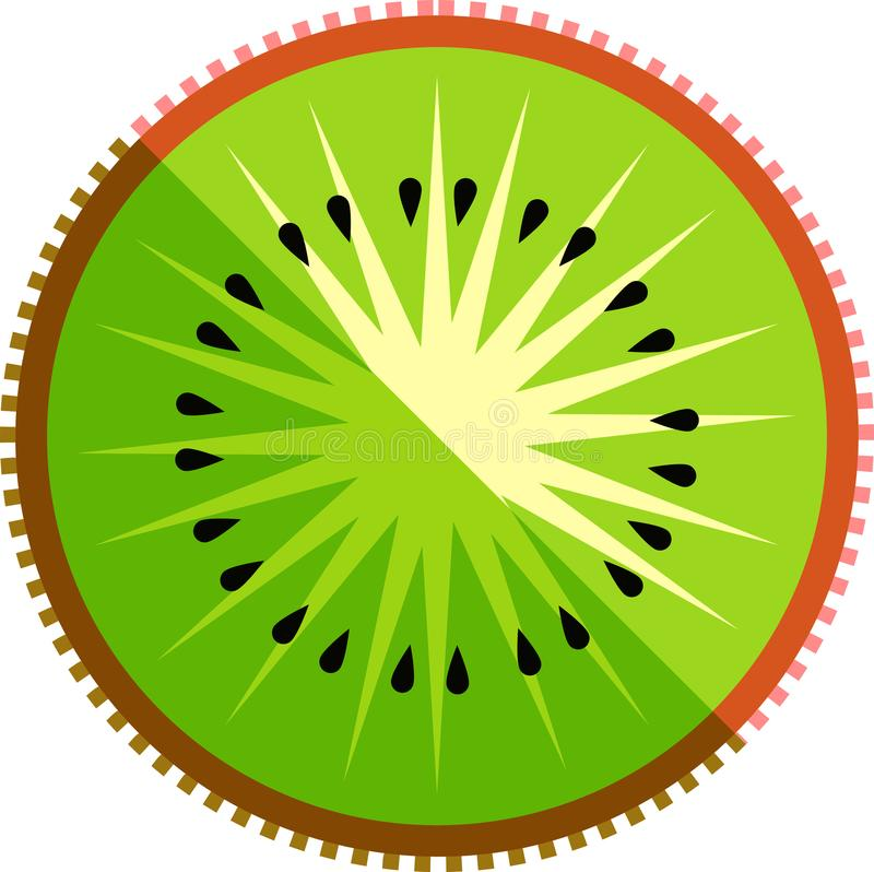 Kiwi Fruit Slice Vector Isolated lizenzfreie abbildung
