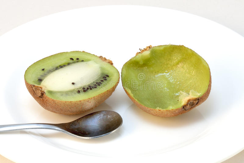 Download Kiwi Fruit Sliced, One Of The Half Eaten Stock Photo - Image: 29009680