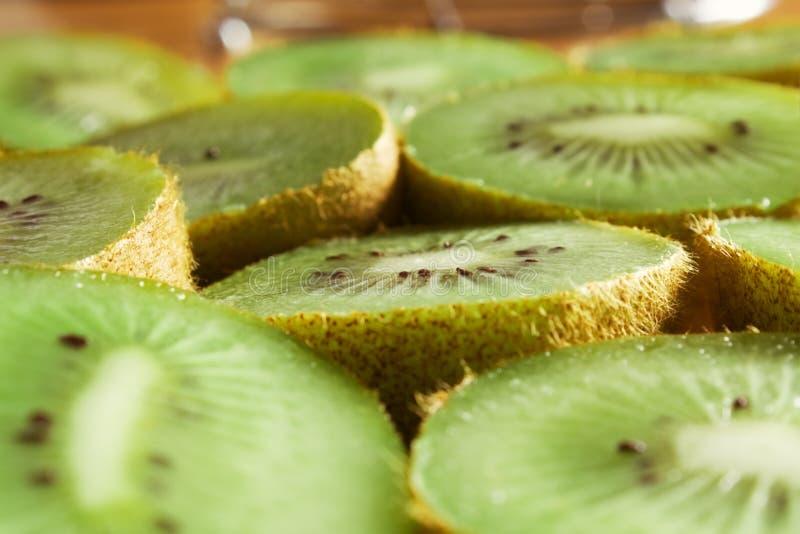 Kiwi Fruit slices. Close-up of kiwi Fruit slices stock image