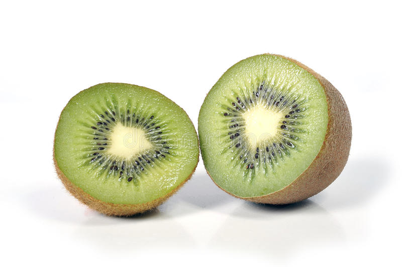Kiwi fruit stillife isolated on white background healthy nutrition concept. Halved kiwi fruit stillife isolated on white background healthy nutrition concept stock image