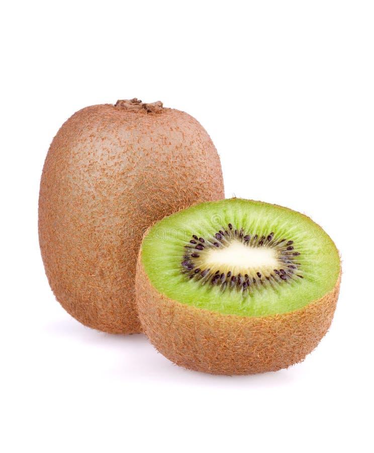 Kiwi fruite and half. Of kiwi isolated on white background royalty free stock images