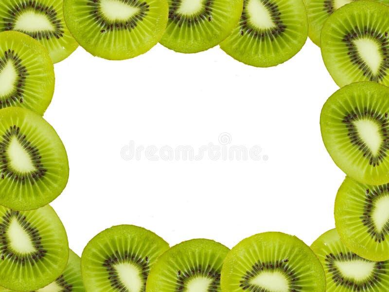 Kiwi fruits frame royalty free stock images