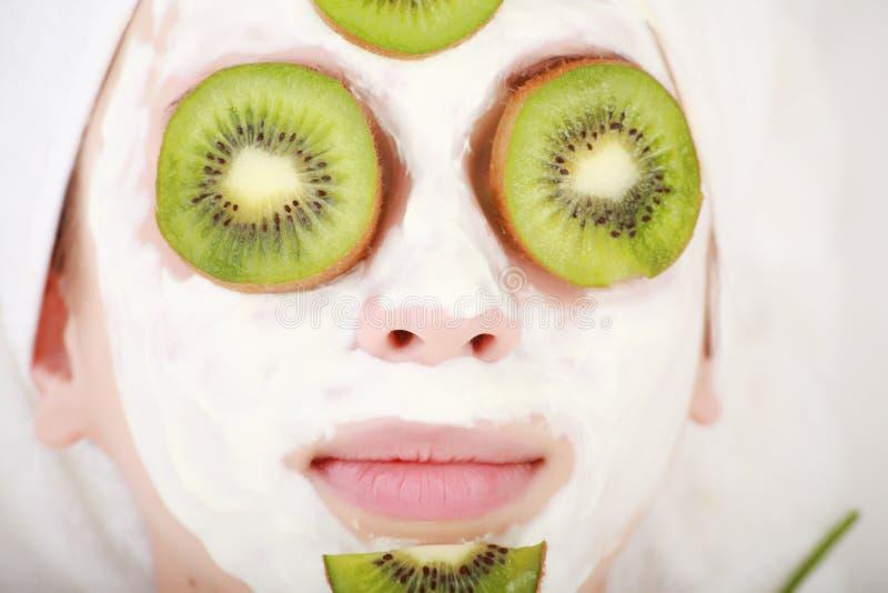 Download Kiwi girl stock image. Image of brush, green, head, food - 5206913