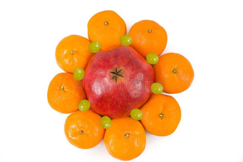 kiwi granatowa tangerines zdjęcia royalty free
