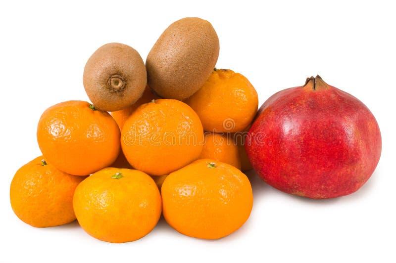 kiwi granatowa tangerines zdjęcie stock