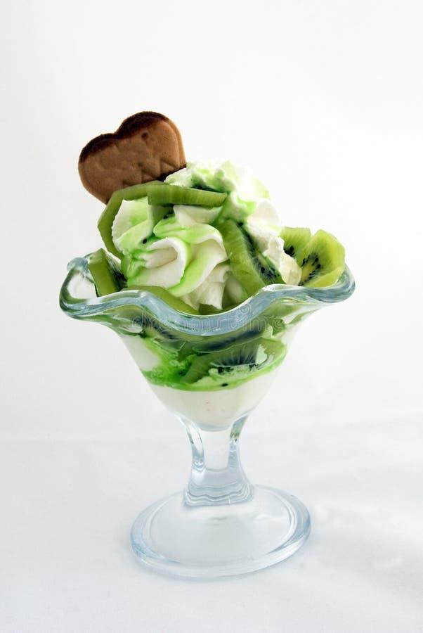 Kiwi ice cream sundae stock image