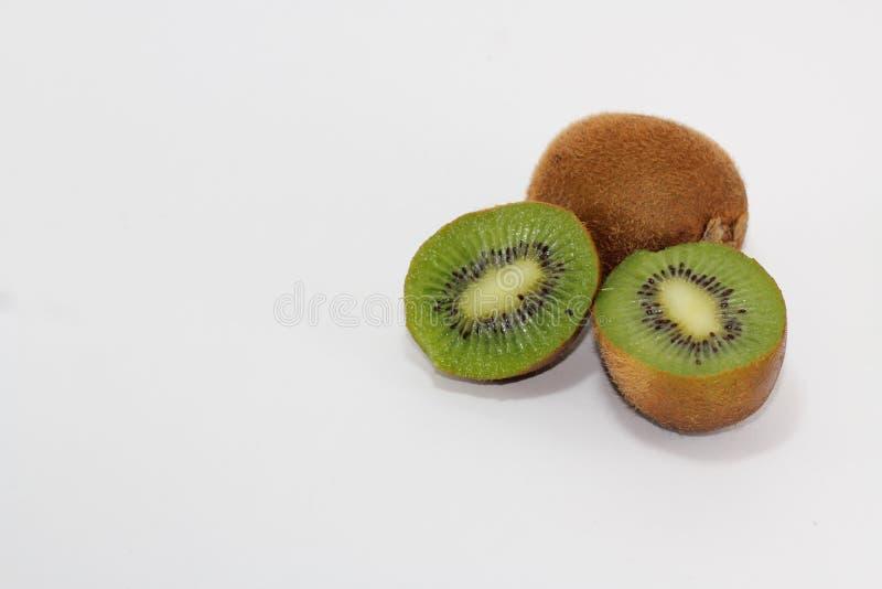 Kiwi slices on white background. Kiwi images, slides and kiwi effects, with a white background, suitable for illustration stock image