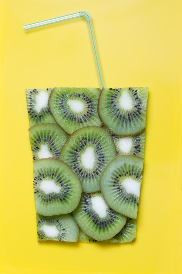Kiwi juice abstract art food concept. Still life royalty free stock image