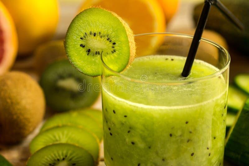 Kiwi juice royalty free stock photography