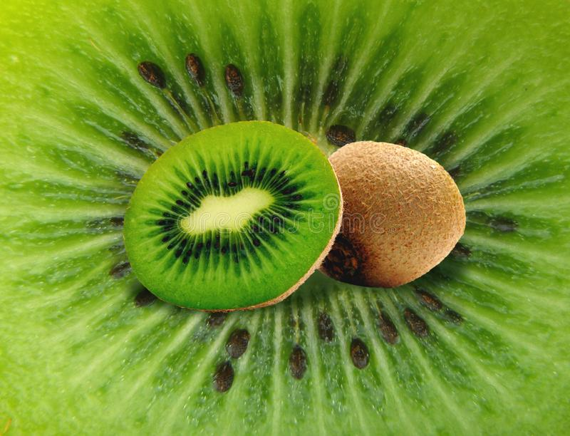 Download Kiwi on kiwi stock image. Image of juicy, close, detail - 14454181