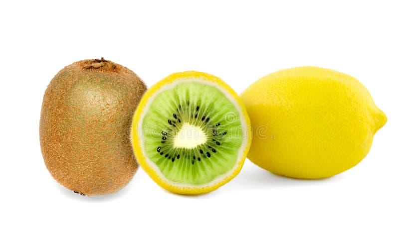Kiwi Lemon Fruits Royalty Free Stock Photography