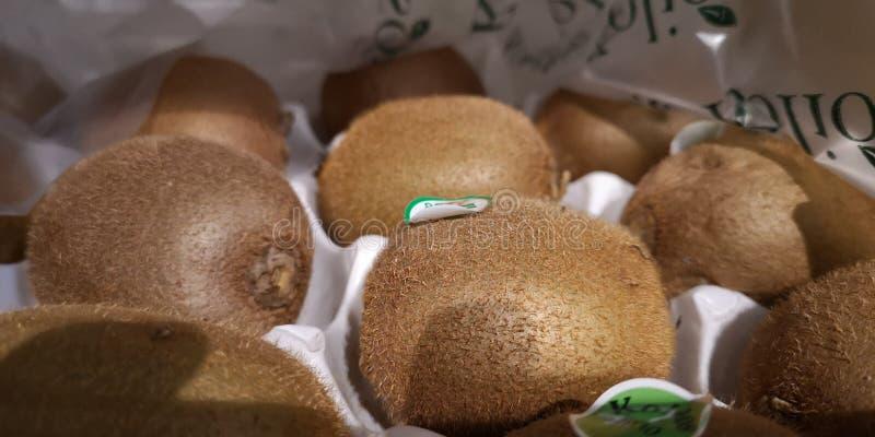 Kiwi, lemon, ice, sugar mix together to make some fresh lemon kiwi juice royalty free stock photography