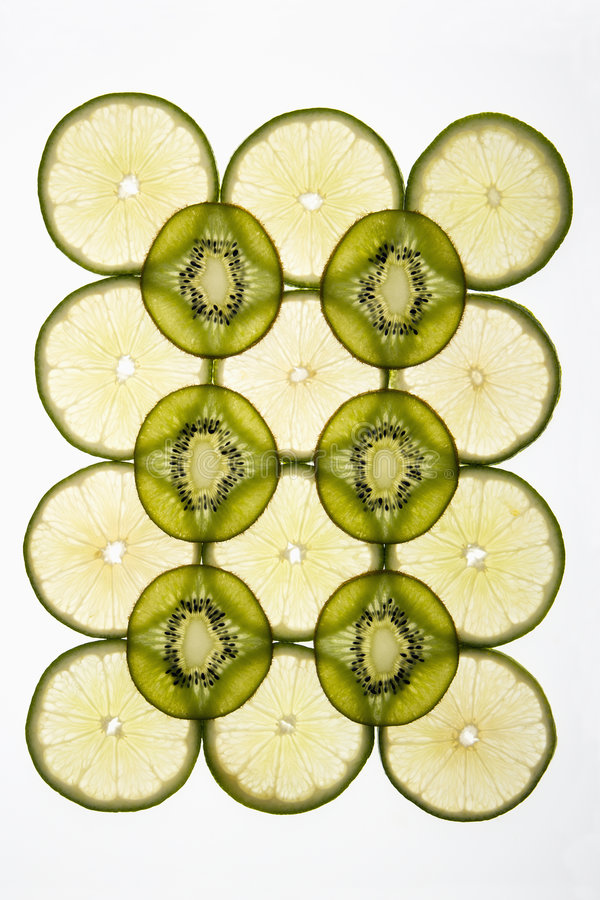 Kiwi and lime. stock photo