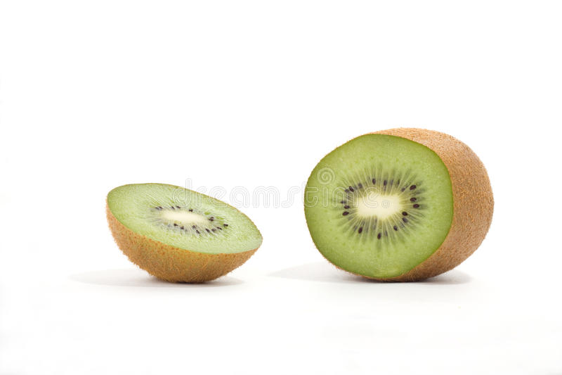 Kiwi na bielu zdjęcia royalty free