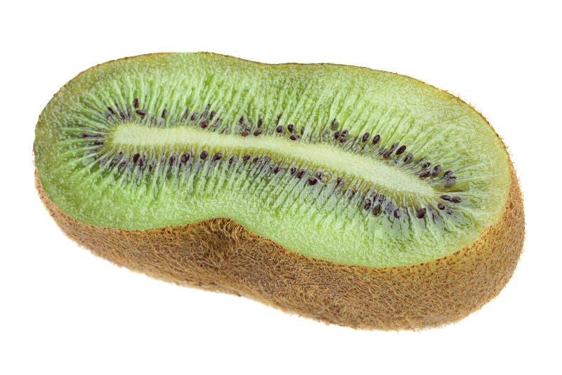 Kiwi på vit royaltyfria foton