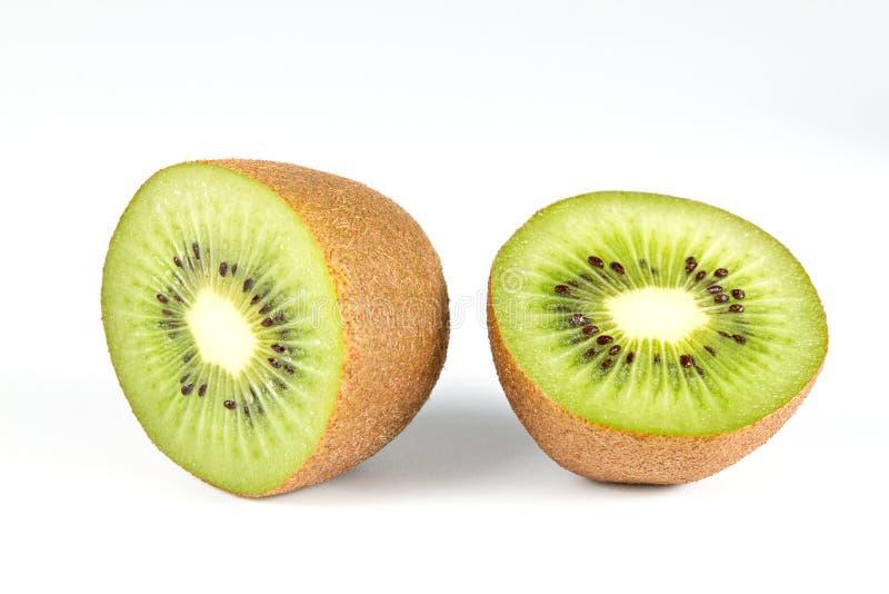 Kiwi på vit fotografering för bildbyråer