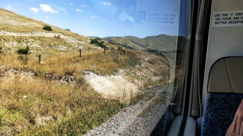 Kiwi Rail Scenic train travel along Kaikora coast. Kiwi Rail Scenic train travel. Coastal Pacific. Tourist attraction in New Zealand. KiwiRail Scenic Journeys royalty free stock images