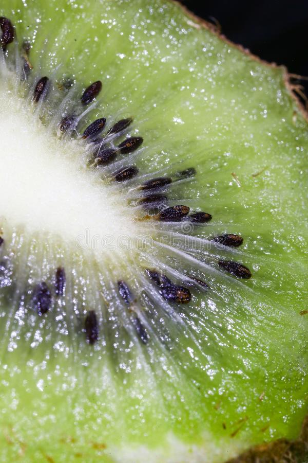 Kiwi, seed, design, fruit, streaks, shine, texture, glare, flesh stock photography