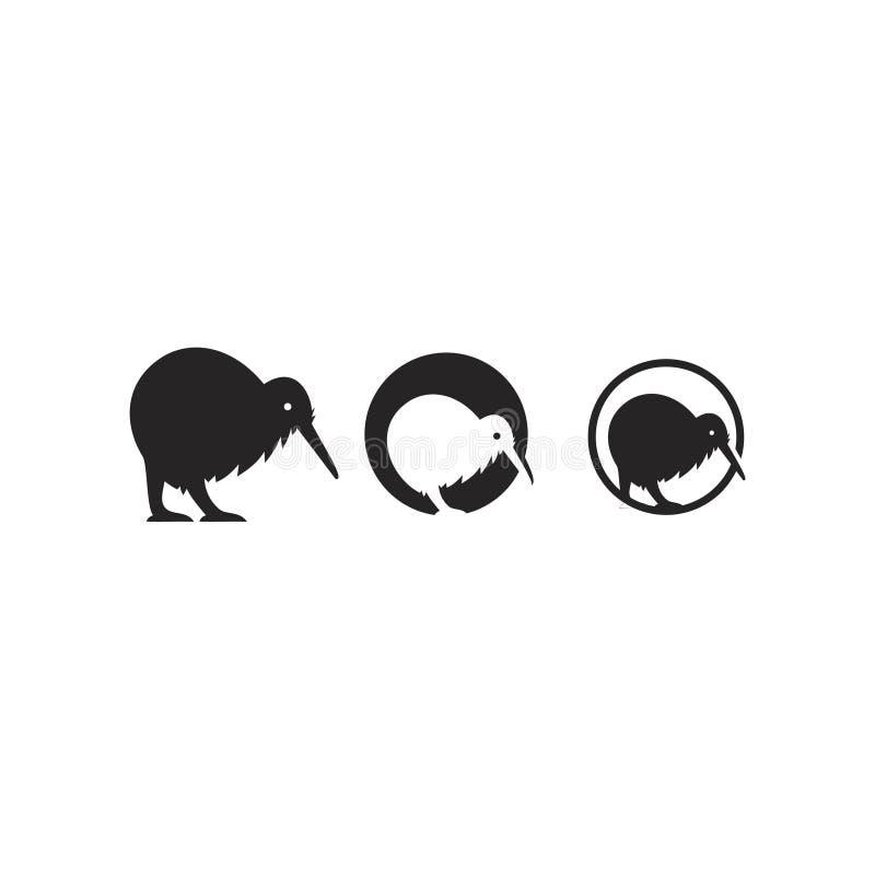 Kiwi set circle black gold color outline line set silhouette logo icon designs vector. Kiwi set black gold color outline line set silhouette logo  icon designs stock illustration