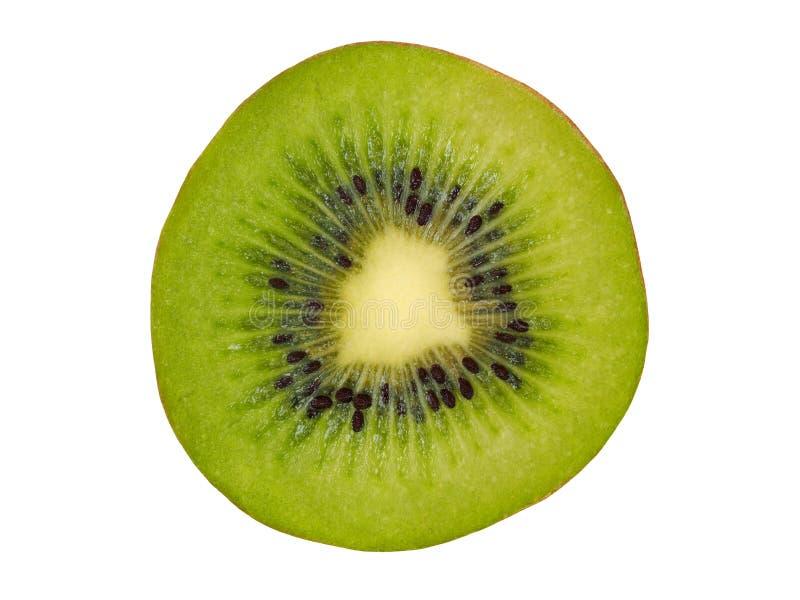 Kiwi Slice sur le blanc images libres de droits