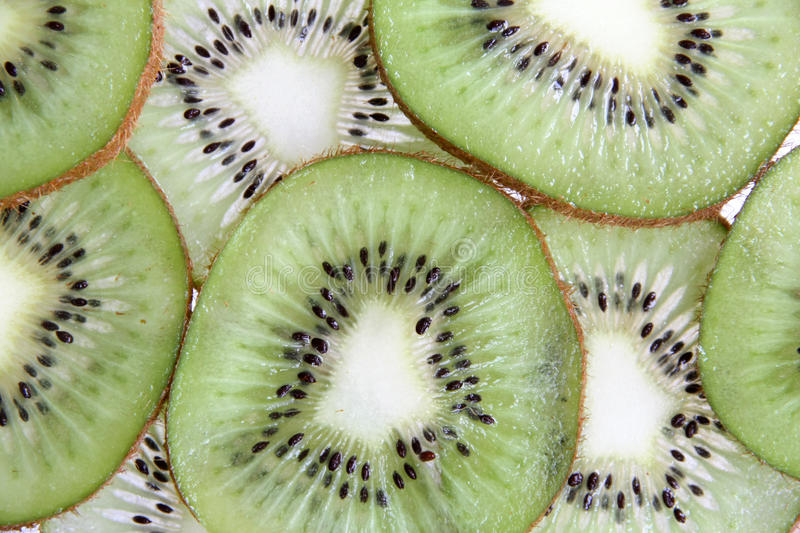 Kiwi slices. Full frame for background and texture royalty free stock photography