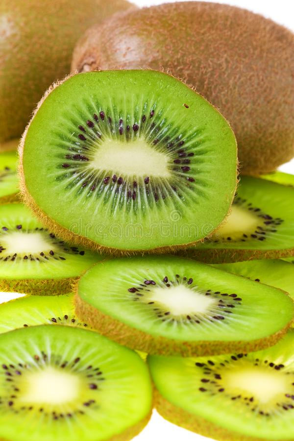 Download Kiwi slices stock image. Image of diet, food, white, natural - 5995613