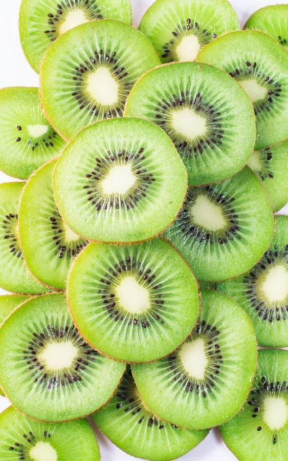 Kiwi. Slices of  fruit stock photos