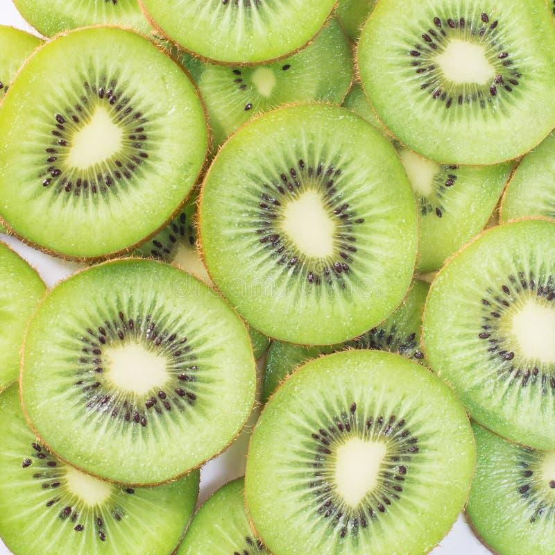 Kiwi. Slices of  fruit stock photo