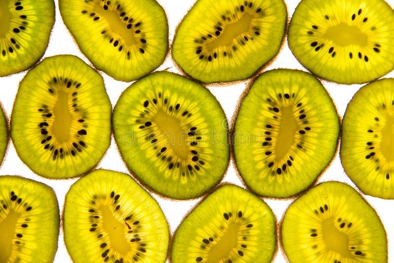Kiwi slices isolated on a white background royalty free stock image