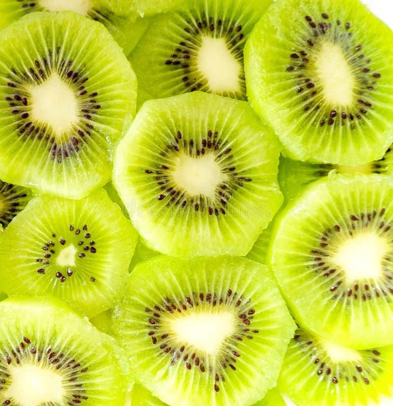 Kiwi slices. On white background stock photos