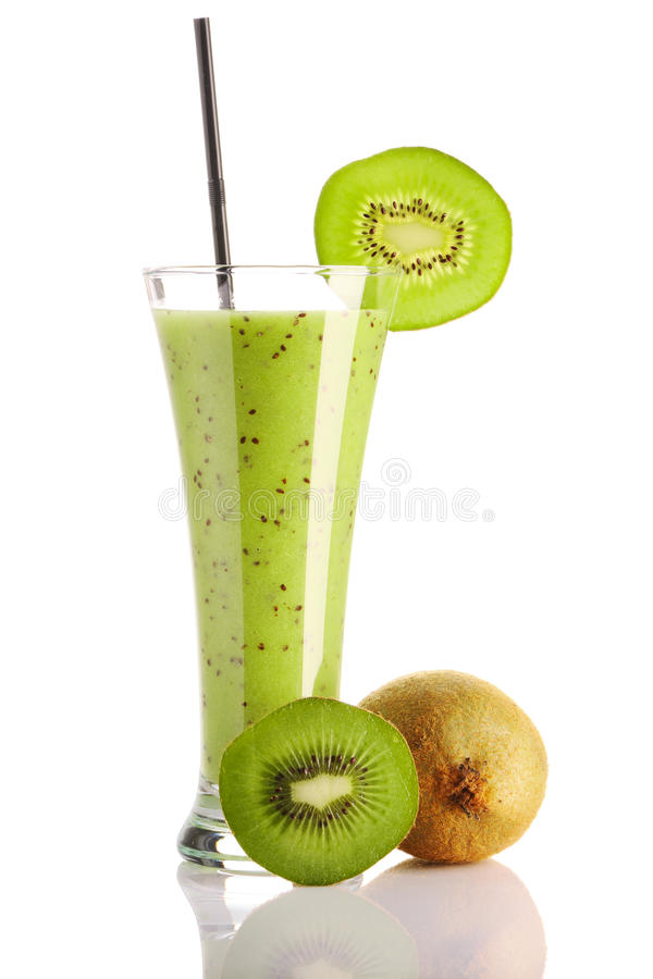 kiwi smoothie obrazy royalty free
