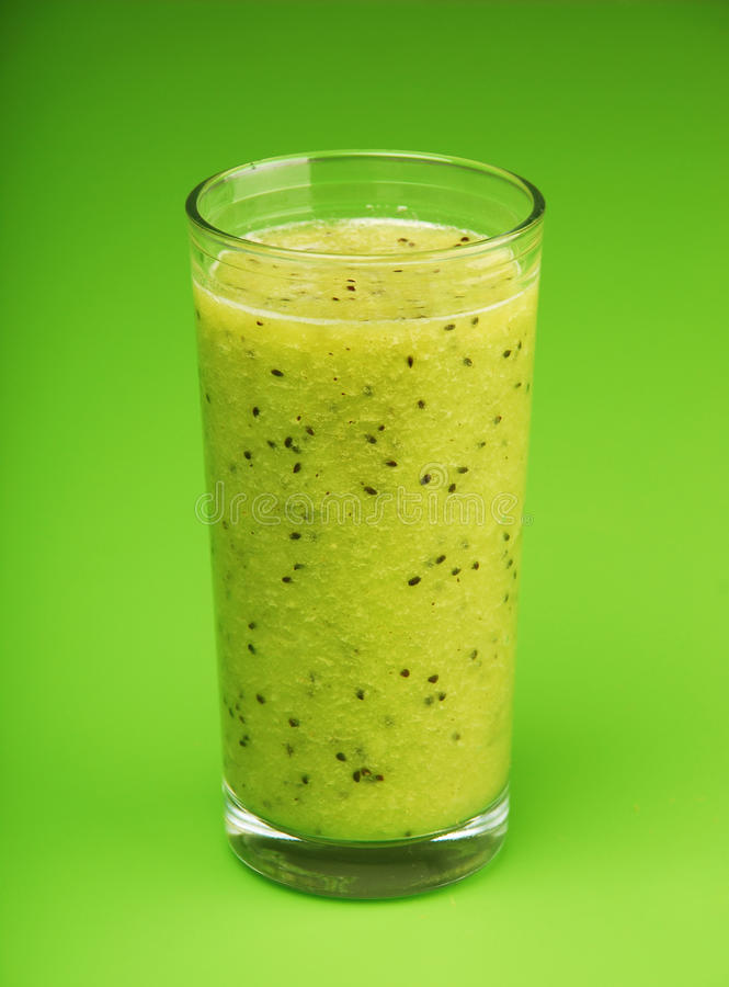 Kiwi smoothie stock foto's