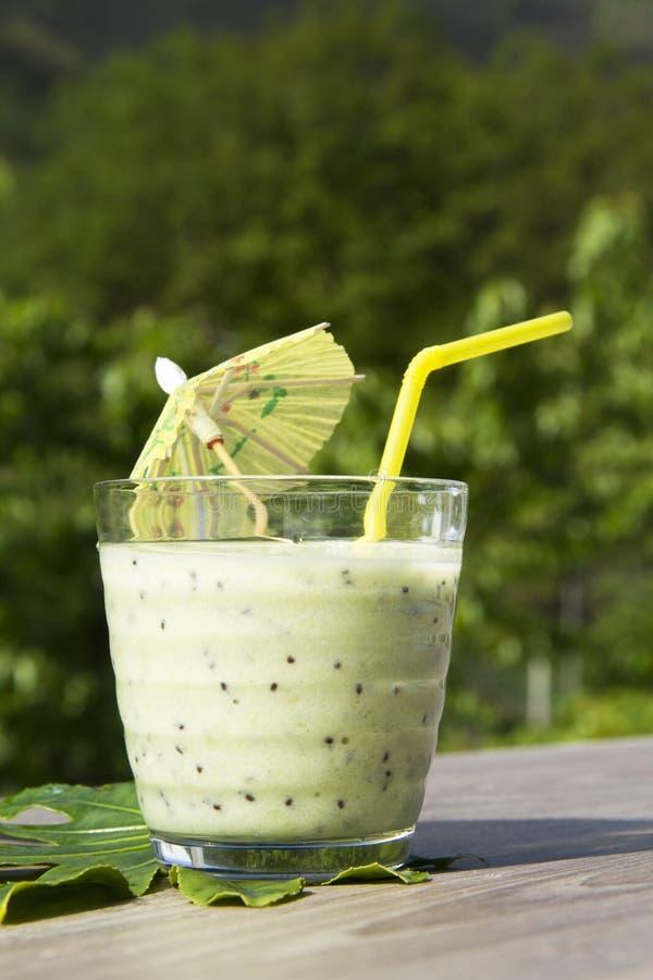 Kiwi smoothie royalty-vrije stock foto's