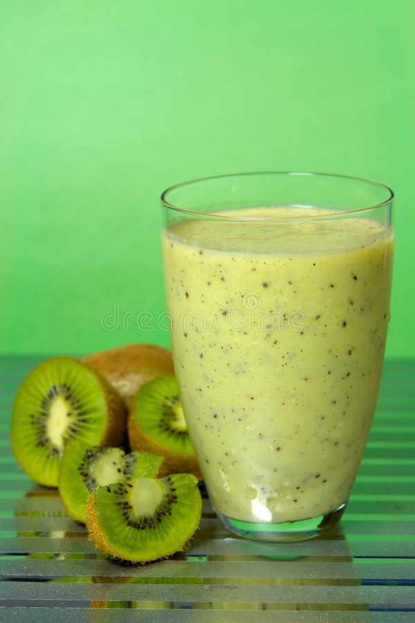 Kiwi Smoothie stock afbeelding