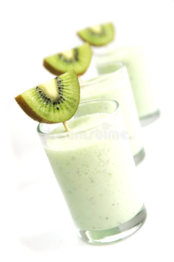 Kiwi smoothies stock photos