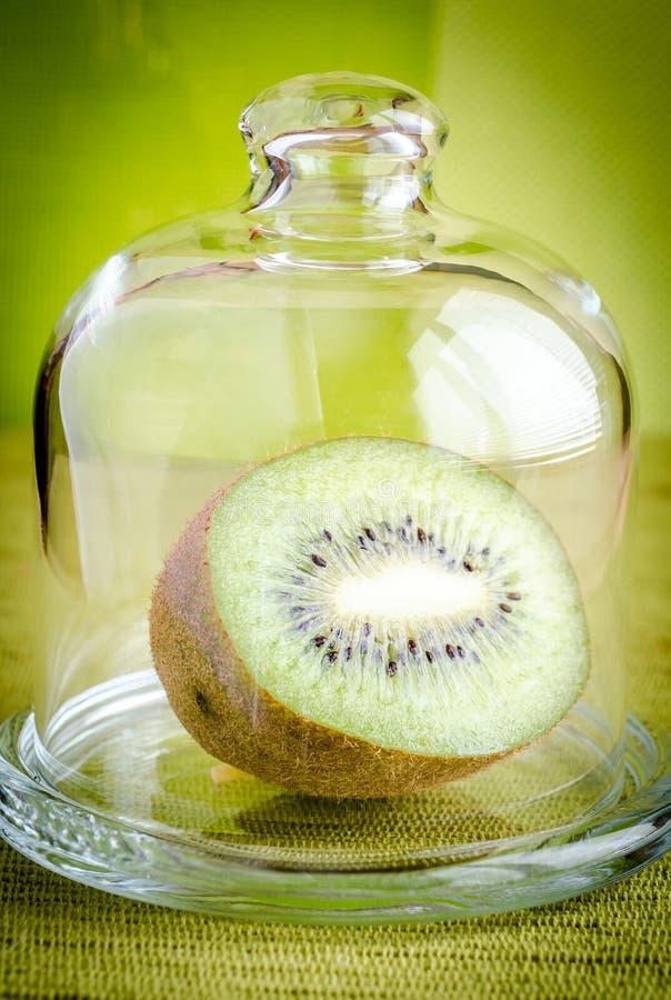 Kiwi som är halv under den glass kupolen royaltyfri fotografi