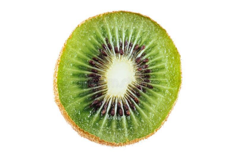 Kiwi som isoleras på vit bakgrund, makro arkivfoton